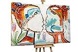 KunstLoft® XXL Gemälde 'Proximity' 180x120cm | original handgemalte Bilder | Liebespaar Kuss Romantisch Rot Weiß | Leinwand-Bild Ölgemälde einteilig groß | Modernes Kunst Ölbild