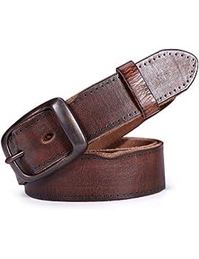 Simple Versátil Primera Capa Cuero Cinturón Vintage/Jeans Decorativo Coreano Pin Hebilla Cinturón