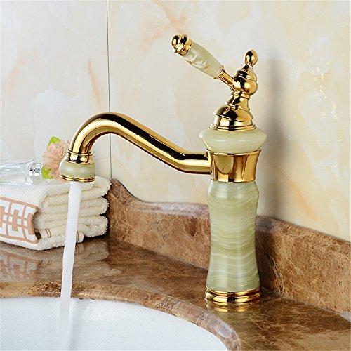 Bijjaladeva miscelatore per lavabo rubinetto bagno a cascata finitura ottone anticatoil rame cucina classica rubinetto metallico golden jade