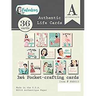 Authentique Paper Fabulous Authentic Life Cards, Multicolour, 0.77 x 7.62 x 10.16 cm