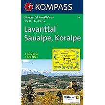 Lavanttal, Saualpe, Koralpe: Wander- und Radtourenkarte. GPS-genau. 1:50.000