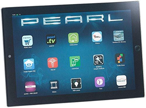 PEARL Glas-Schneidebrett 2er Set, Tablet-Design, 23x16 cm & 19x13cm