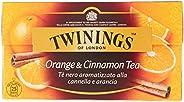 Twinings Tè Nero Aromatizzato Arancia e Cannella, 25 Filtri
