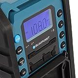BLAUPUNKT BSR 10 Baustellen Radio mit PLL-UKW, Bluetooth, USB, SD, AUX-IN, Robustes Gehäuse, Akkubetrieben blau - 3