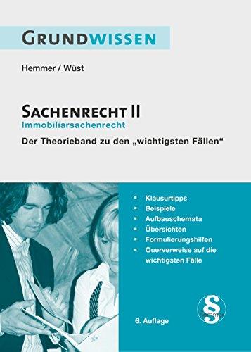 Grundwissen Sachenrecht II (Skripten - Zivilrecht)