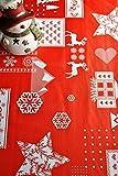 Mantel de Navidad estampado con relieve, en rojo, se limpia con un paño, de 140cm x 200cm, de...