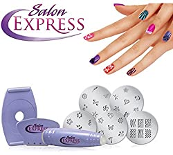 Dreamworld Salon Express Professional Nail Polish Art Kit Decals Paint Stamp
