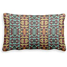 Bonny sui Pillow case Orange Teal turchese rosso rustico mosaico Couch Pillow Covers