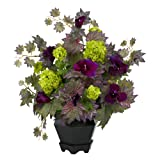 Nearly Natural Home Garden Decor Morning Glory & Hydrangea Silk Flower Arrangement PP/GR