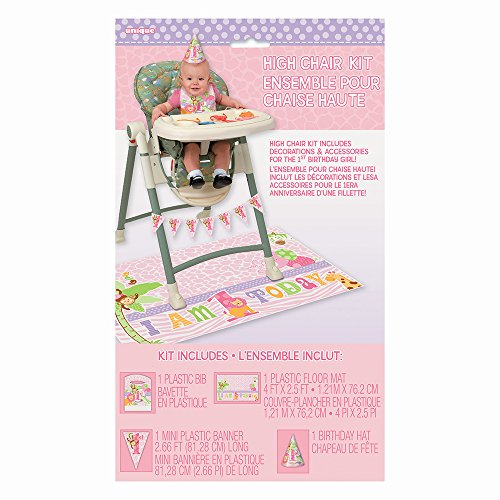 s Rosa Safari 1st Birthday High Chair Dekorieren Kit (Safari-geburtstags-party-ideen)