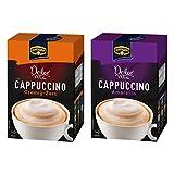 Krüger Dolce Vita Cappuccino Set mit 2 Sorten, Cremig-Zart und Amaretto, Milch Kaffee aus löslichem Bohnenkaffee, 20 Portionsbeutel, 400 g