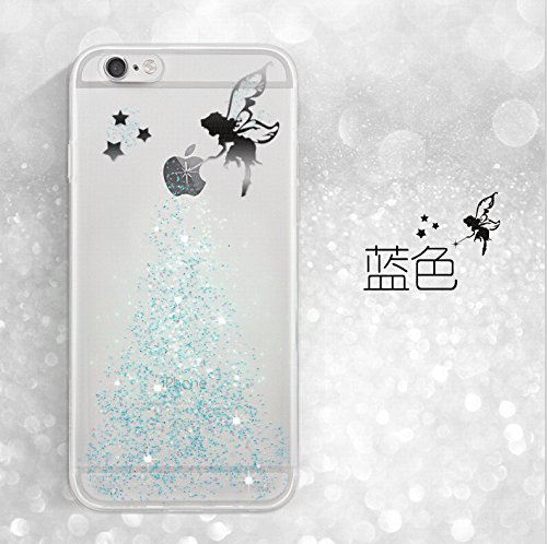 Sunroyal® Coque iPhone 6s Transparent Beau Fairy Fée Bling Diamant TPU Soft Crystal Clear Etui Housse Premium Ultra Mince Strass Case Cover de Protection Bumper pour Apple iPhone 6 / iPhone 6S (4.7 Po Fée-02