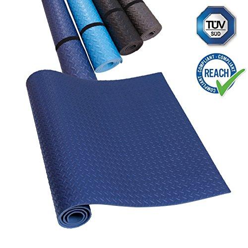 Maschine Ringer (EVA Unterlegmatte Laufband Blau Yogamatte Rutschfest & Schalldämmend - blue Boden-Schutzmatte Fitness-Raum Bodenbelag;TÜV und SGS Geprüft)