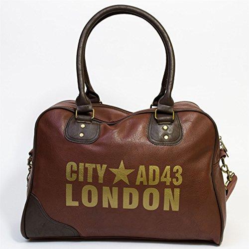 Stadt AD43 London Bowling Tasche, Schwarz Braun