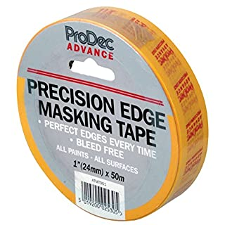 ProDec ATMT001 Advance Precision Edge Masking Tape (25mm), Yellow