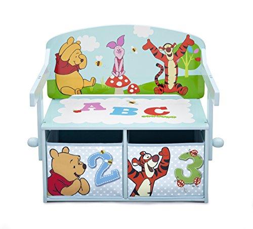 Winnie the Pooh 3in1 Sitzbank & Schreibtisch mit Stauraum, 62x43x57cm - 3