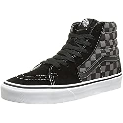 Vans U Sk8 Hi, Scarpe sportive unisex adulto , Nero (Black/Pewter Checkerboard Canvas), 40 EU