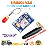 SIM800L V2.0 5V Wireless GSM GPRS MODULE Quad-Band with Antenna Cable Cap |SIM800L Wireless GPRS GSM-Modul SIM-Karte 5V Quadband QUAD BAND L-Form-Antenne für Arduino