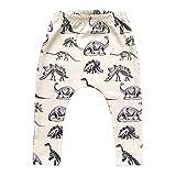 SMARTLADY - Bebé Niño Harlan Pantalones Largos Elásticos Moda, Color Beige (12 Meses)