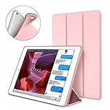 Dteck Hülle für iPad Mini 4, (TM) [Luftkissentechnologie + Wabenmuster] Ultra Schlanke iPad Mini 4 Schutzhülle Superleicht Dreifach Ständer Smart Cover für Apple iPad Mini 4 7.9 Zoll Tablet, Rosegold