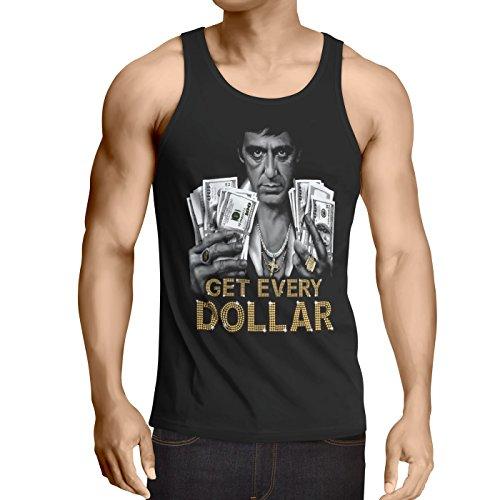style3 Tony Get Every Dollar Herren Tank Top Pacino Pablo US Montana, Größe:XXL -