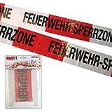 PARTY DISCOUNT ® Absperrband Feuerwehr 10m - SPAR-PACK mit 10 x 10m