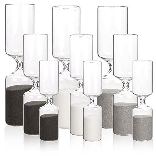 rau & weiß–3020& 10Minute Glas Sand Timer Sanduhr Uhr (Ei-timer 10 Minuten)