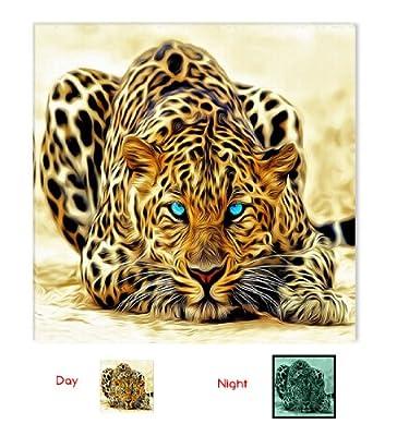 Leopard Fantastic Canvas Wall Art, Startonight 80x80 cm