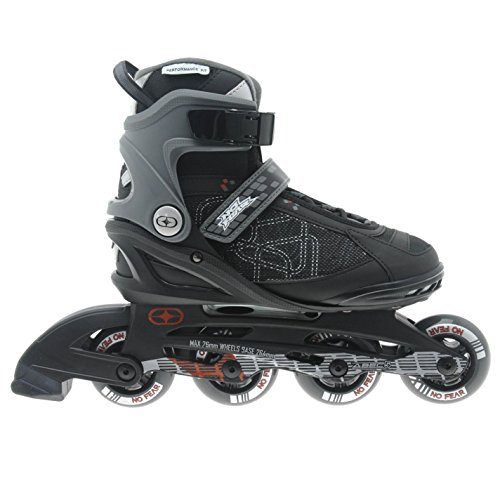 no-fear-mens-fitness-inline-skates-roller-blades-four-wheel-sports-black-grey-uk-10