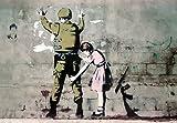 """Póster Banksy """"Soldado y... ...niña"""" (59cm x 42cm)"""