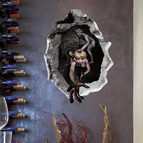 Fröhliches Halloween Mauer Aufkleber HARRYSTORE Haushalt Zimmer Wandgemälde Dekor Abnehmbar Abziehbild (D)