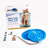 Pets Empire Pet Cat Toilet Training Kit Cats Seat Kitten Trainer Cat Litter Box Pad Suitable for all Toilets for Cats Age 3 Months of Age and Older, Train Your Cat to Use the Toilet-Color May Vary