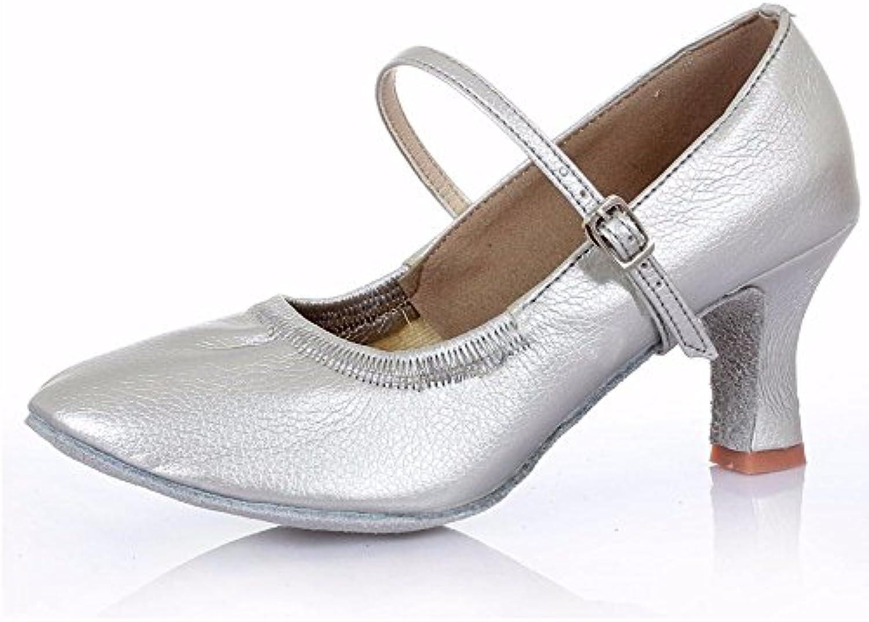 xiao123 Weibliches Erwachsenes lateinisches Beschuht Weiche Untere Schuhe der Modernen Freundschaft Innen Siebenö