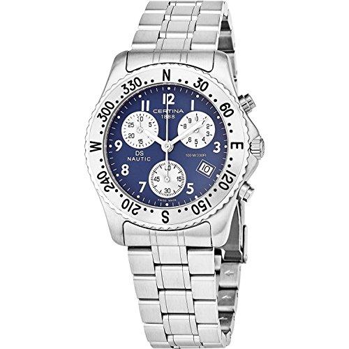 CERTINA Men's DS Nautic 38MM Steel Bracelet Swiss Quartz Watch C542.7118.42.52