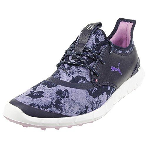 Puma Ignite Spikeless Sport Floral Damen Golfschuhe Frauen Schuhe blau lila Größe 39