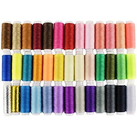 LIHAO Hilos de Coser de Poliéster para Costura(39 Colores)