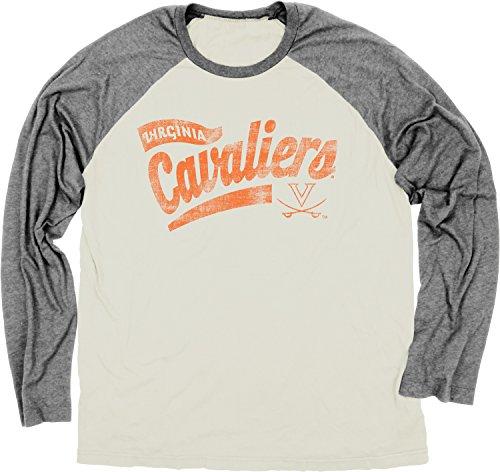 Blue 84 NCAA Raglan-T-Shirt mit Ringspun, Herren, elfenbeinfarben, Large - Ringspun-fußball-t-shirt