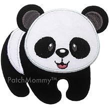 PatchMommy Parche Bordado Panda Parche Termoadhesivo - Parches y Apliques Infantiles