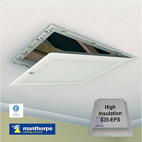 Manthorpe 035, EPS Höchste Isolierte Falltür Mit Scharnier Weiß Loft Klappe Auf