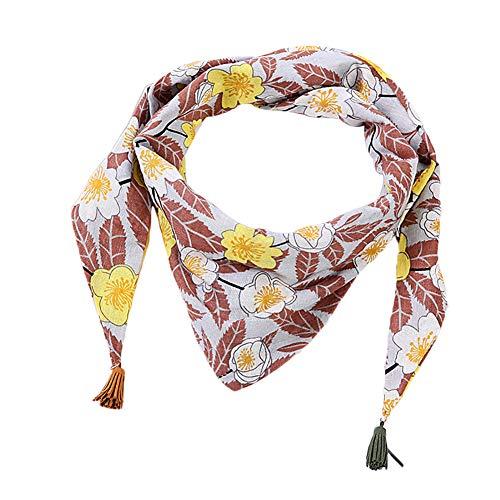 LAMEIDA Fular de niños con flecos Cuello de chal de triángulo fino Bufunda de niños size 140 * 40cm (Gris claro)