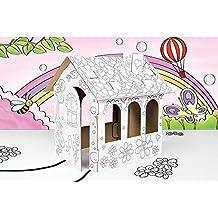 GUIZMAX Casa de la muñeca de cartón Construir, ...