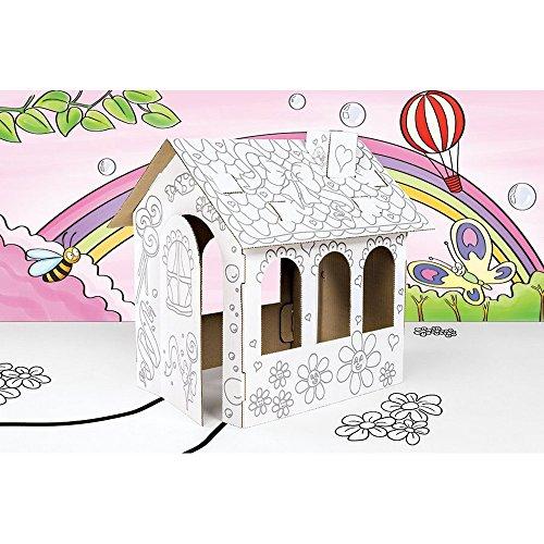 GUIZMAX Casa de la muñeca de cartón Construir, Decorar à colorier Pintar