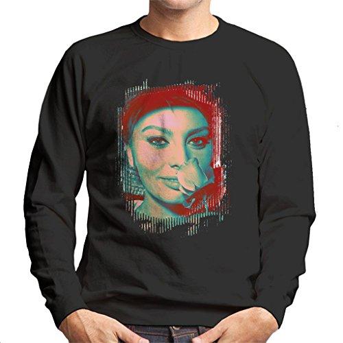 Sophia Loren Screen Siren Rose Effect Men's Sweatshirt