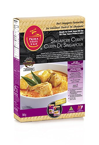 Prima Taste Ready-to-Cook Sauce Kit for Singapore Curry, 300 g