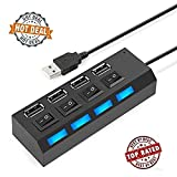 #7: GKP PRODUCTS 4 Port USB Hub with Switch and LED Indicator -Color May Vary Model 155019