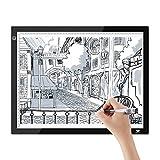SAVFY Tableta de Luz A3, Mesa de Luz Niveles de Brillo Ajustables,Botón LED Inteligente, Tableta de Dibujo, Animaciones, Bocetos, X-Ray