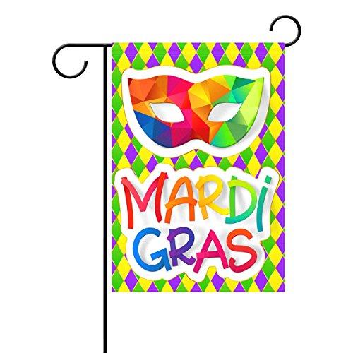 Duble Sided Rainbow Karneval Maske mit farbigen Mardi Gras Polyester HAUS/Garten Flagge Banner 12x 18/71,1x 101,6cm für Hochzeit Party alle Wetter, Polyester, multi, 28x40