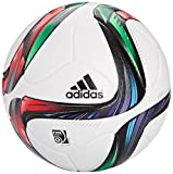 adidas Offizieller Spielball Conext 15, Top -White/Night Flash S15/Flash Green S15/Black Bottom-Silver Met/Bold Red/Flash Red S15/Light Blue, 5, M36880