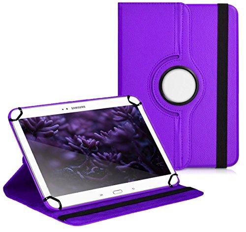 Premium Universal-Hülle für Tablet-PC ACME Tremendous TB1016 10 ZOLL mit DREHFUNKTION und HALTER / STÄNDER-FUNKTION Schutz-Case Flip-Tasche Cover Lila