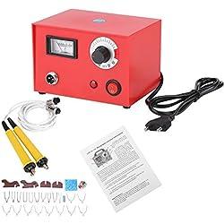 50W Kit de Machine de Stylo Pyrograve 220V AC Kit de Machine à Stylo Multifonction 20Pcs Embouts+ 2Pcs Stylos à Bois avec Kit d' Accessoires de Bricolage en Bois (EU-Stecker)